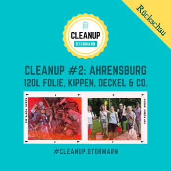 Beim Cleanup in Ahrensburg haben wir jede Menge Müll, v.a. Kippen und Folien gesammelt und vernünftig entsorgt.