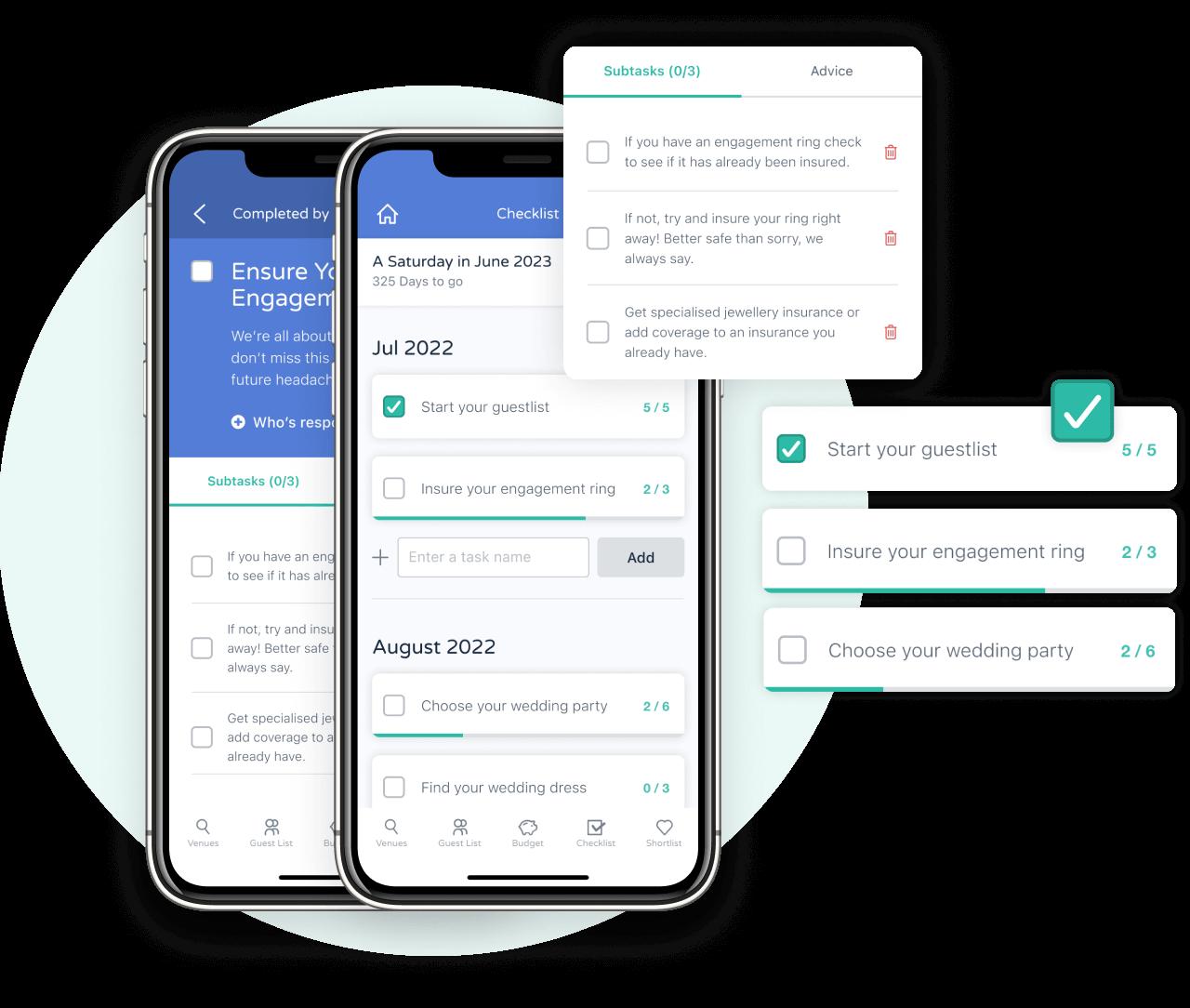 Bridebook checklist iOS App