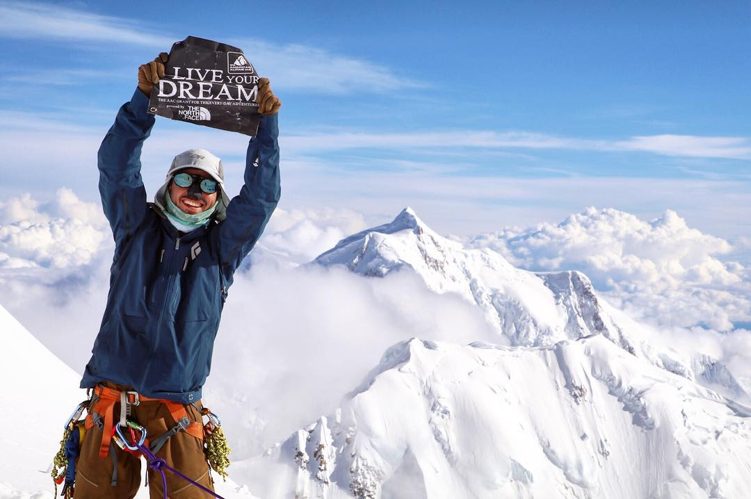 Jonathan on top of a mountain in Denali.