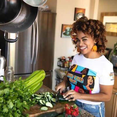 Brandie Kekoa cooking