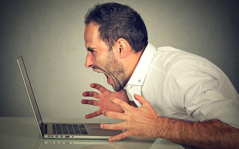 Computer Rage Angry Man - Rage Clicks with Hotjar