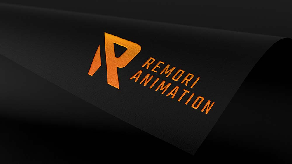 Remori animation logo mockup