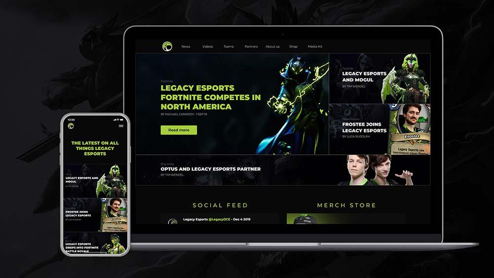Legacy esports wesbite design