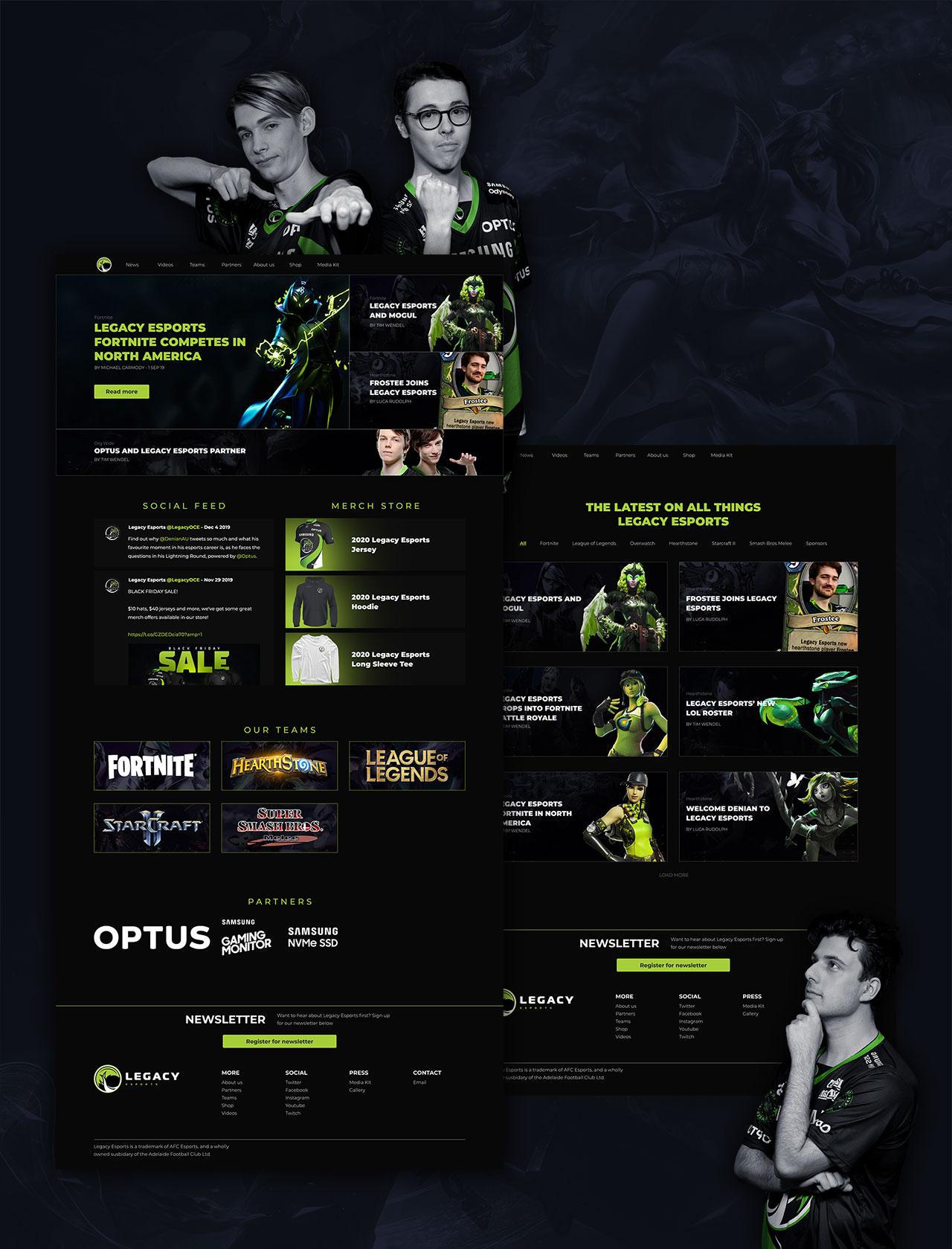 Legacy Esports website show off