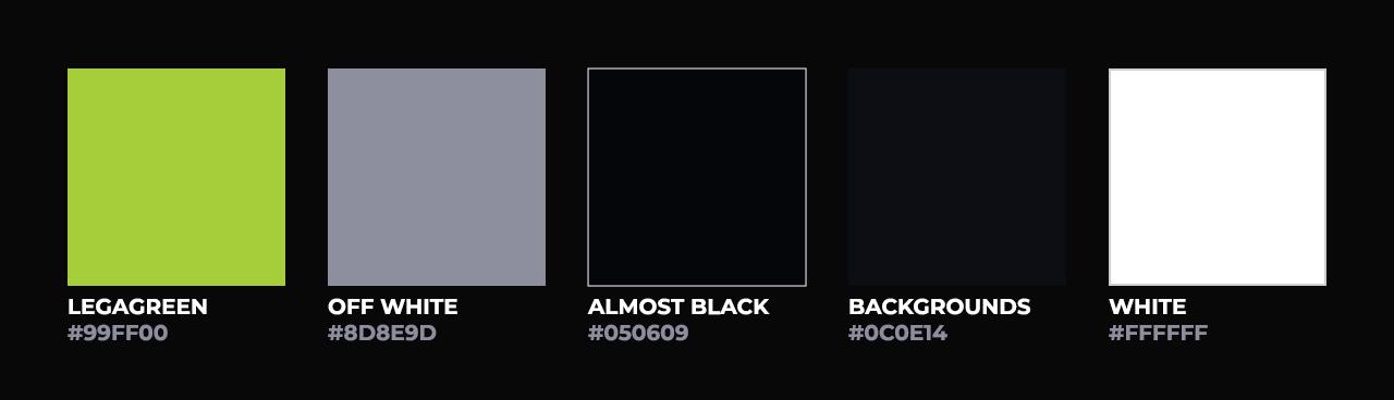 Legacy esports colour scheme