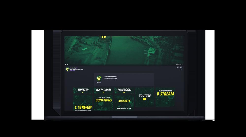 Auscraft twitch channel design