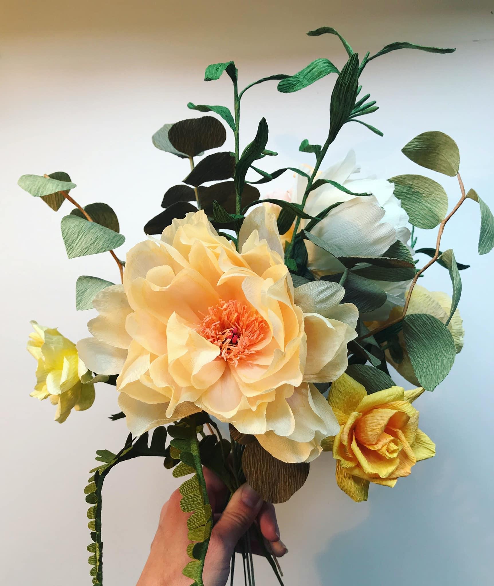 Paper Wedding Anniversary Bouquet Replica