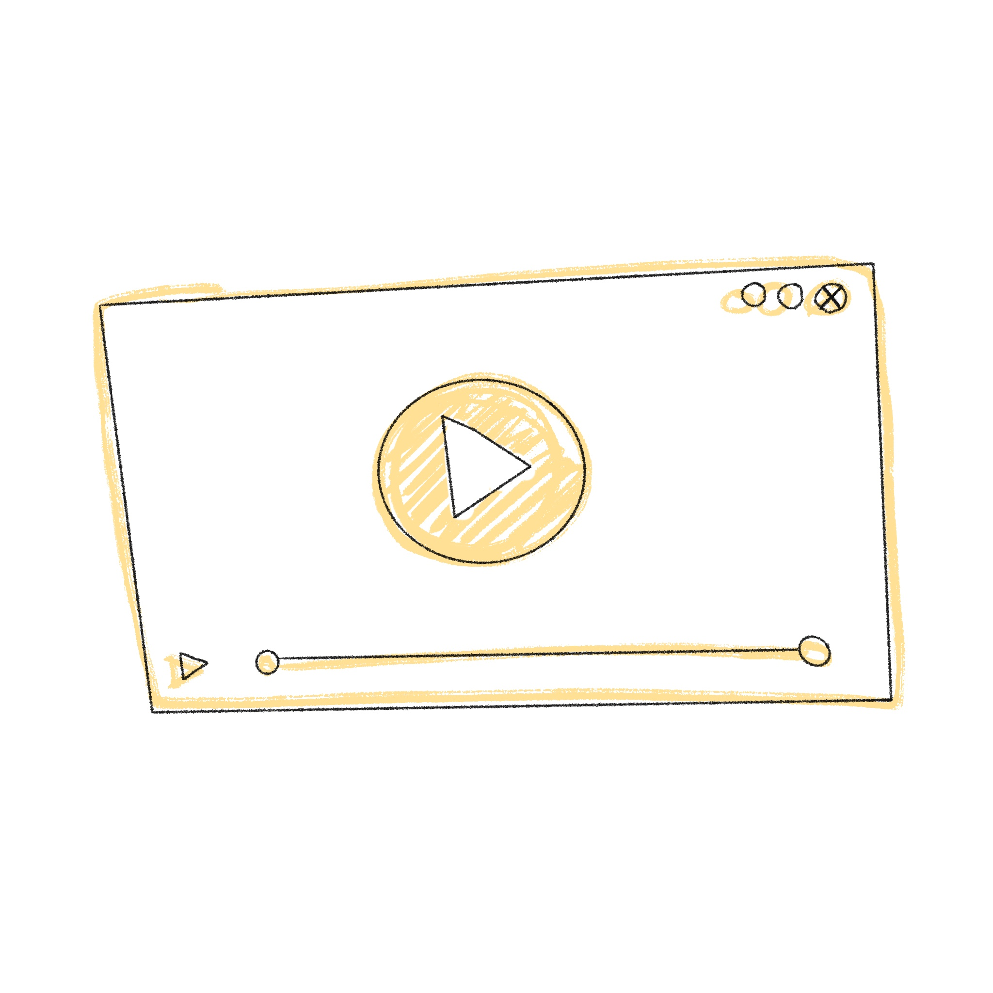 Video thumbnail drawing with play button