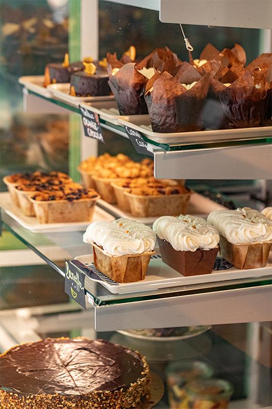Desserts en vitrine
