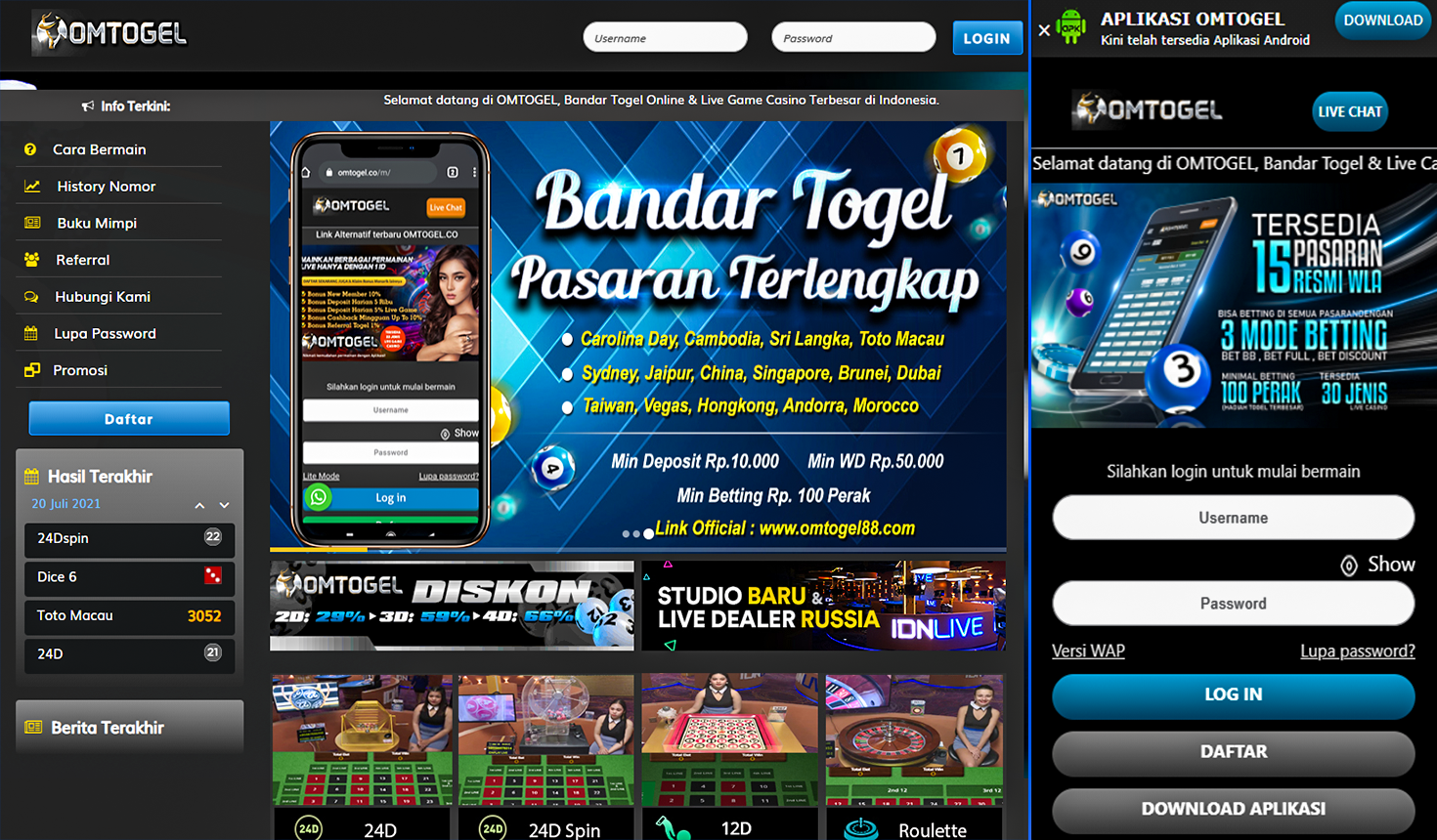 Bandar Togel Terpercaya Indonesia Omtogel