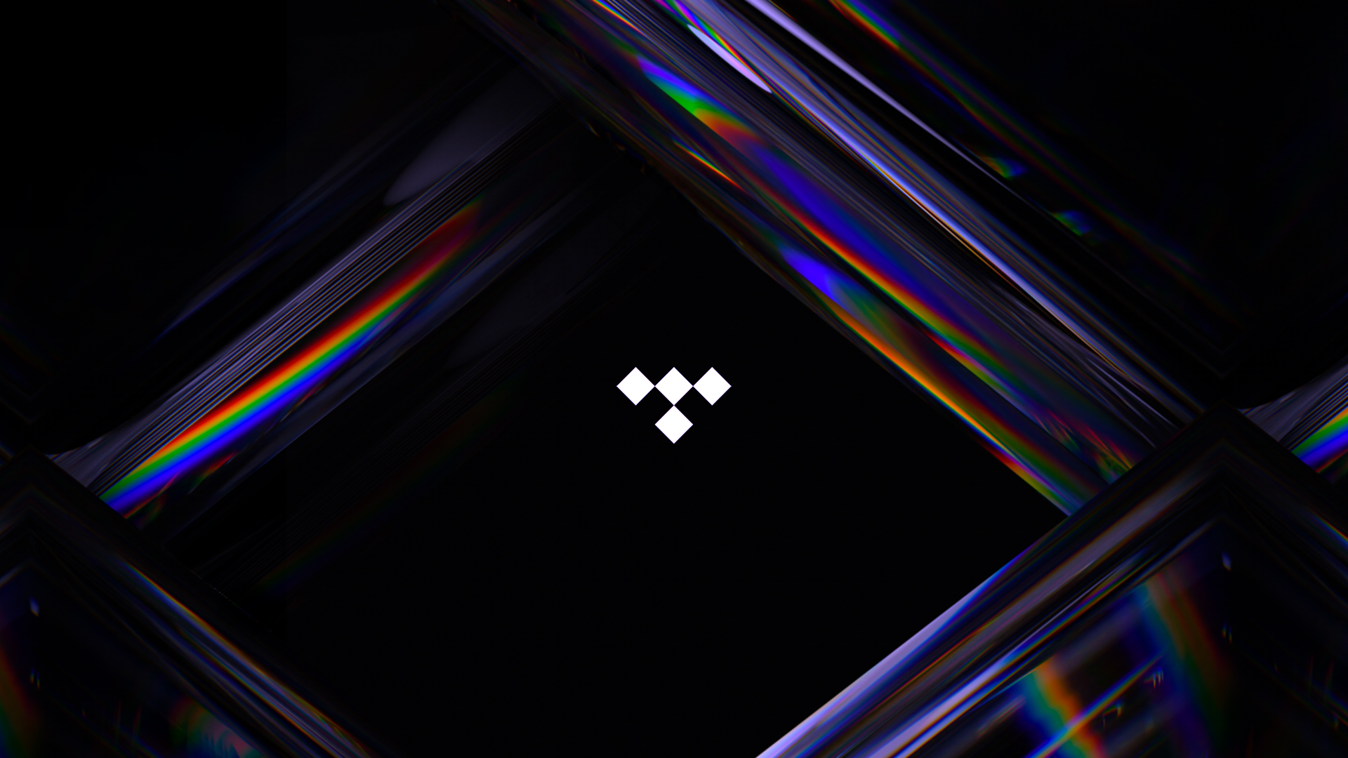 TIDAL logo with crystal backgrounds