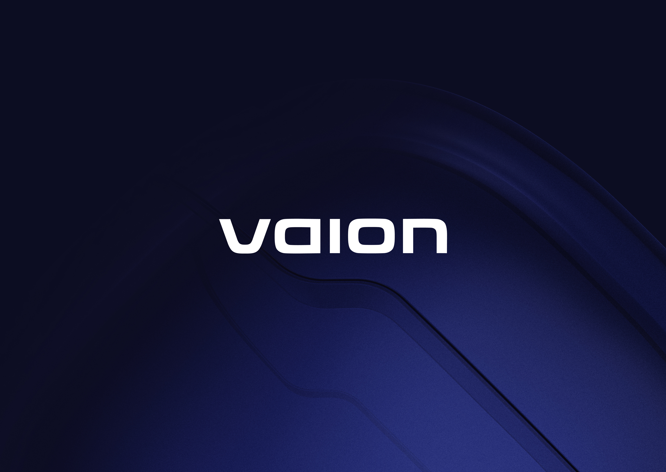 Vaion Logo in a blue background