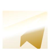Gold Telegram Icon