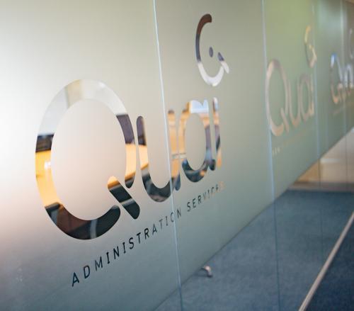 Quai admin office door