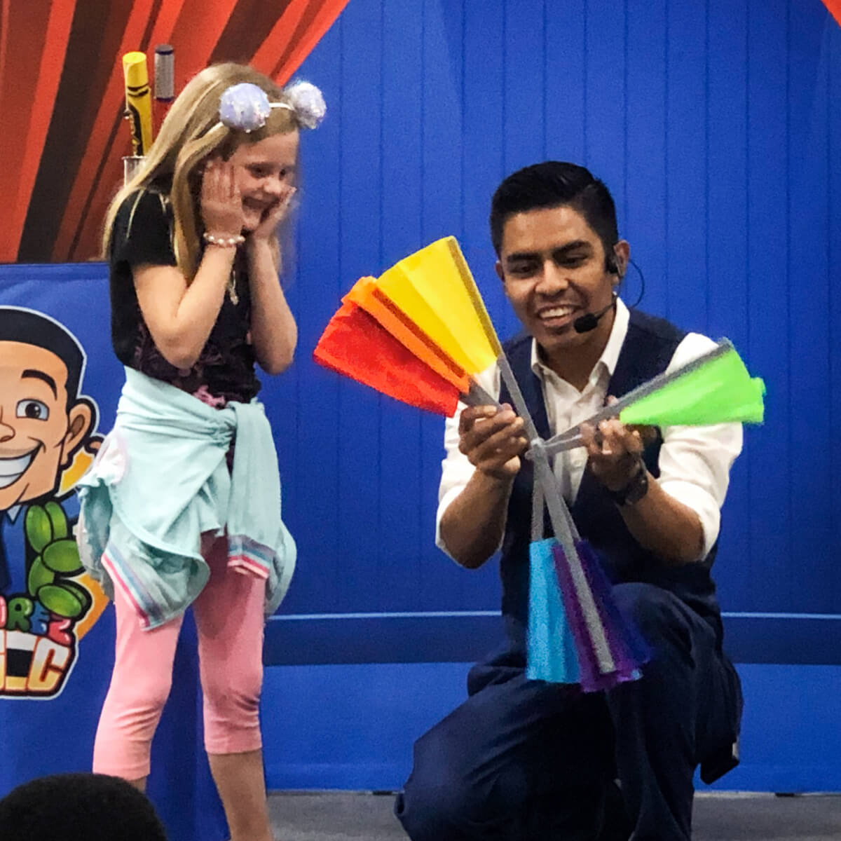 Magician for birthday party.