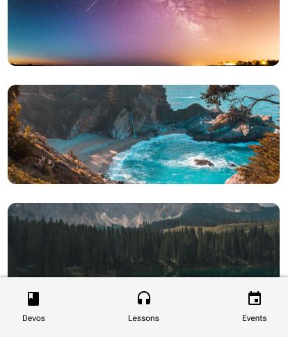 Customizable section screen