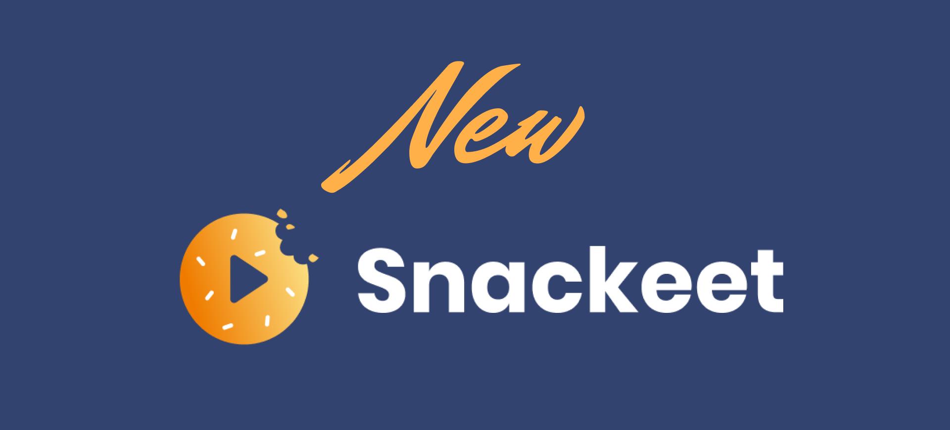 Nouveau design, nouveau Snackeet