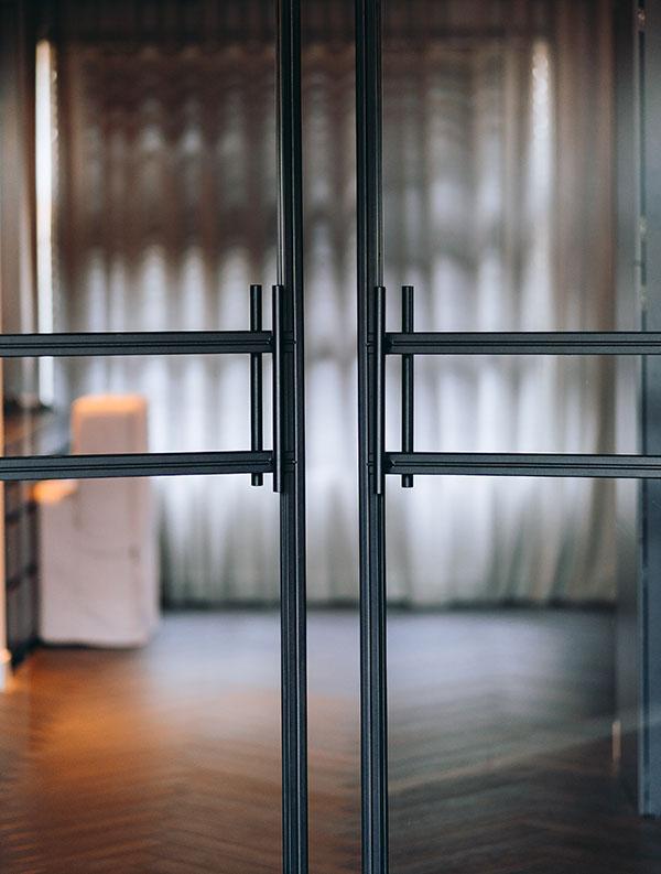 Stalen deur handgrepen