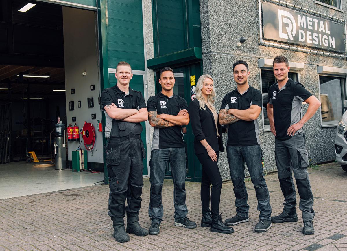 Groepsfoto team DR Metal Design