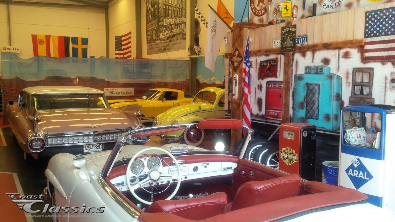 Vintage car workshop in Costa del Sol