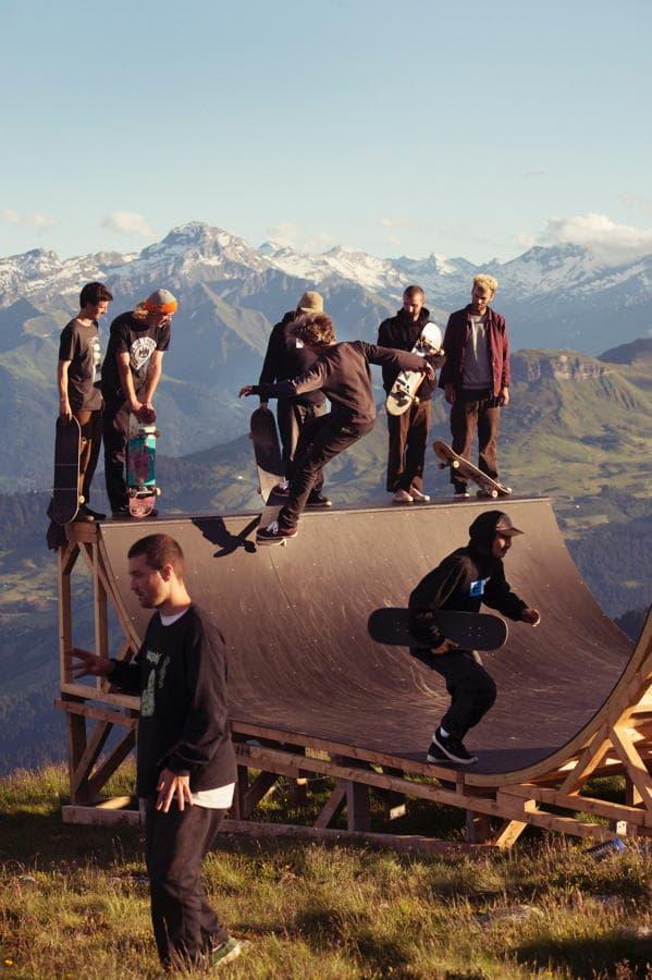 Mini Ramp auf dem Berg