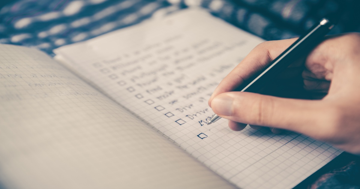 Checklists can be used as a form of content, in Content Marketing