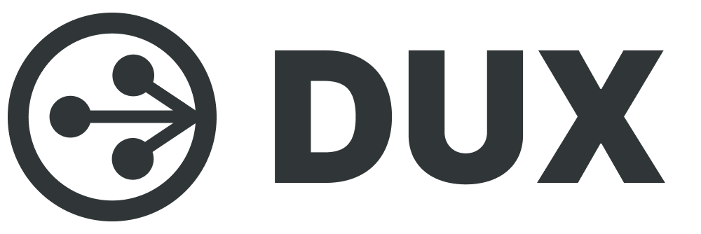 Dux logo. Create share and follow instructions on Dux