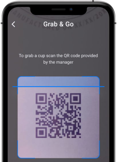 Screenshot of Cup Cycling (Swappa Cup) app showing QR code scanning feature.