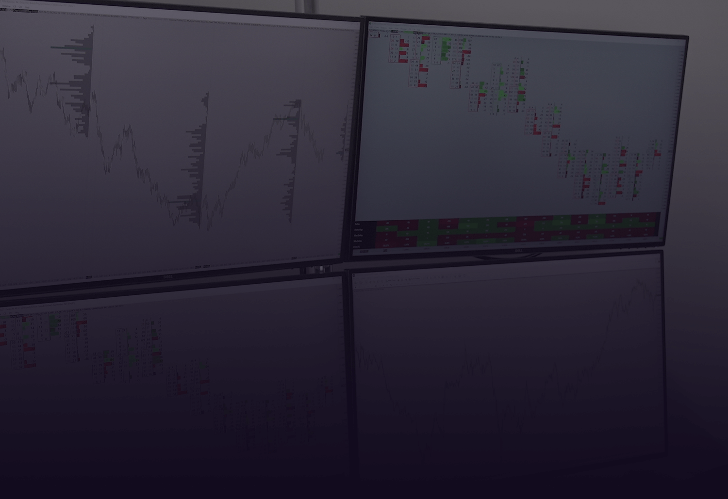 Background image with charts