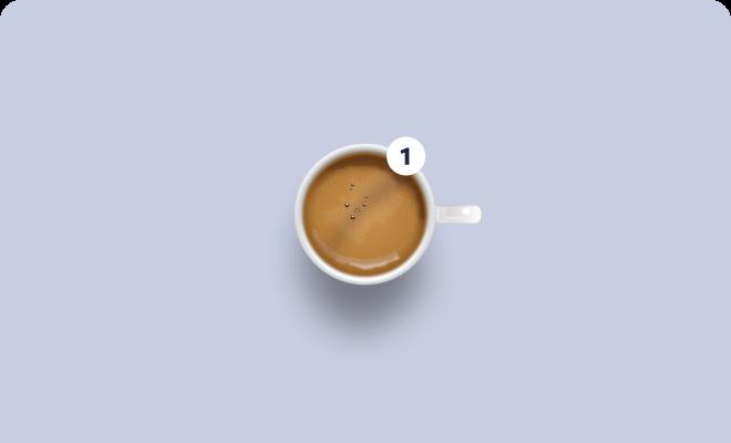 Ein Espresso zur Darstellung des Starter Paketes