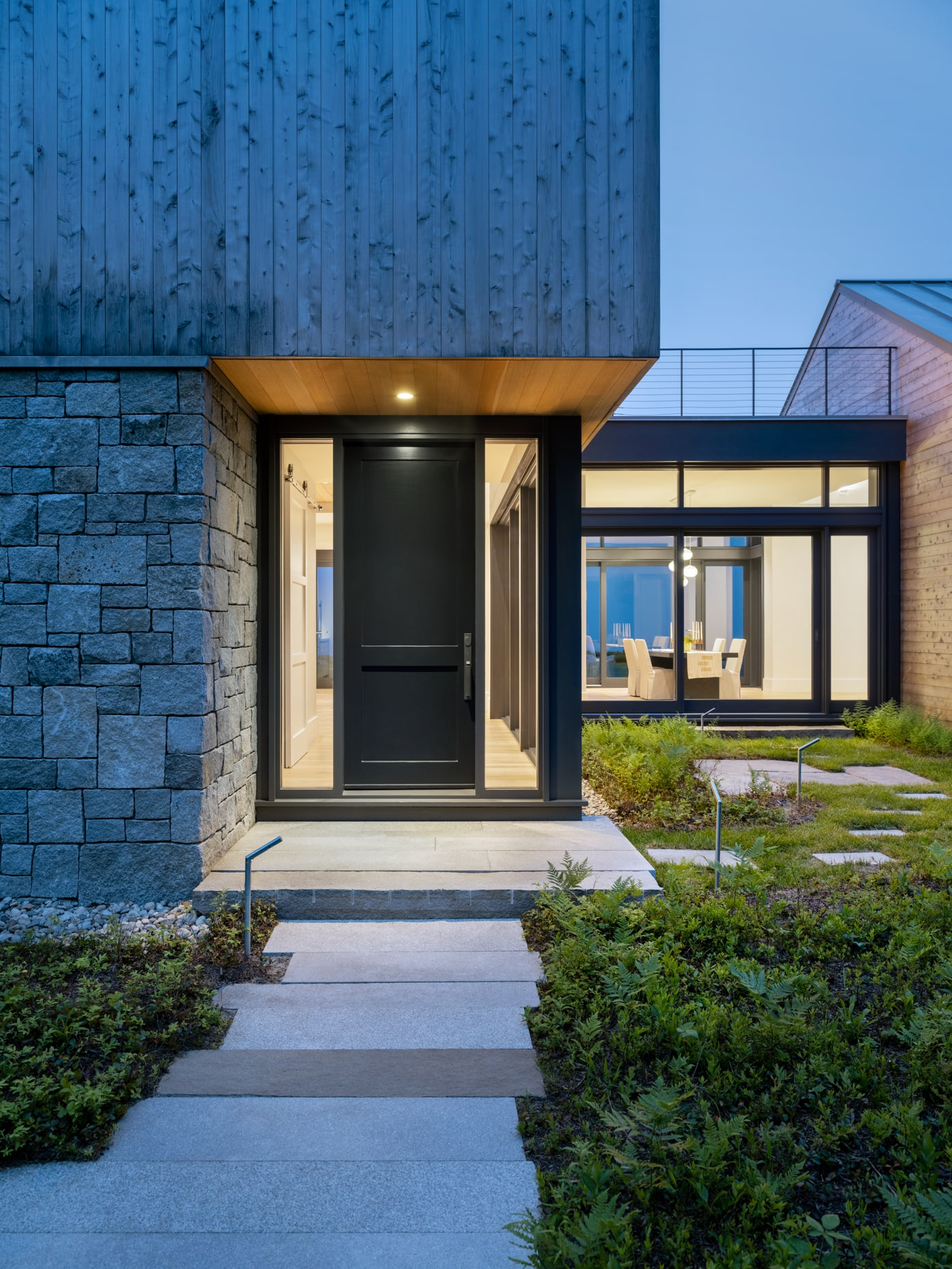 Modern style home exterior front door