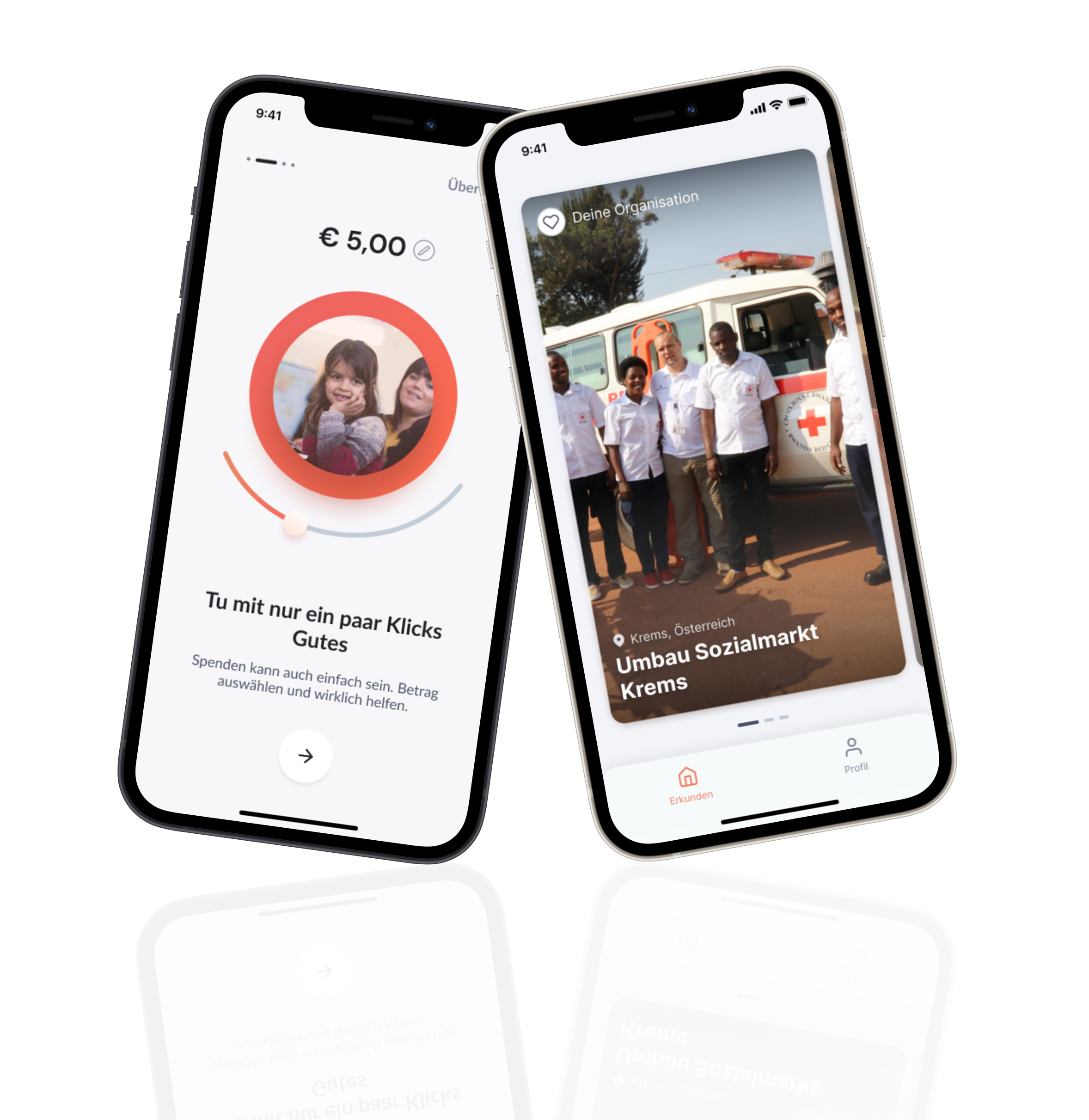 our main app screens