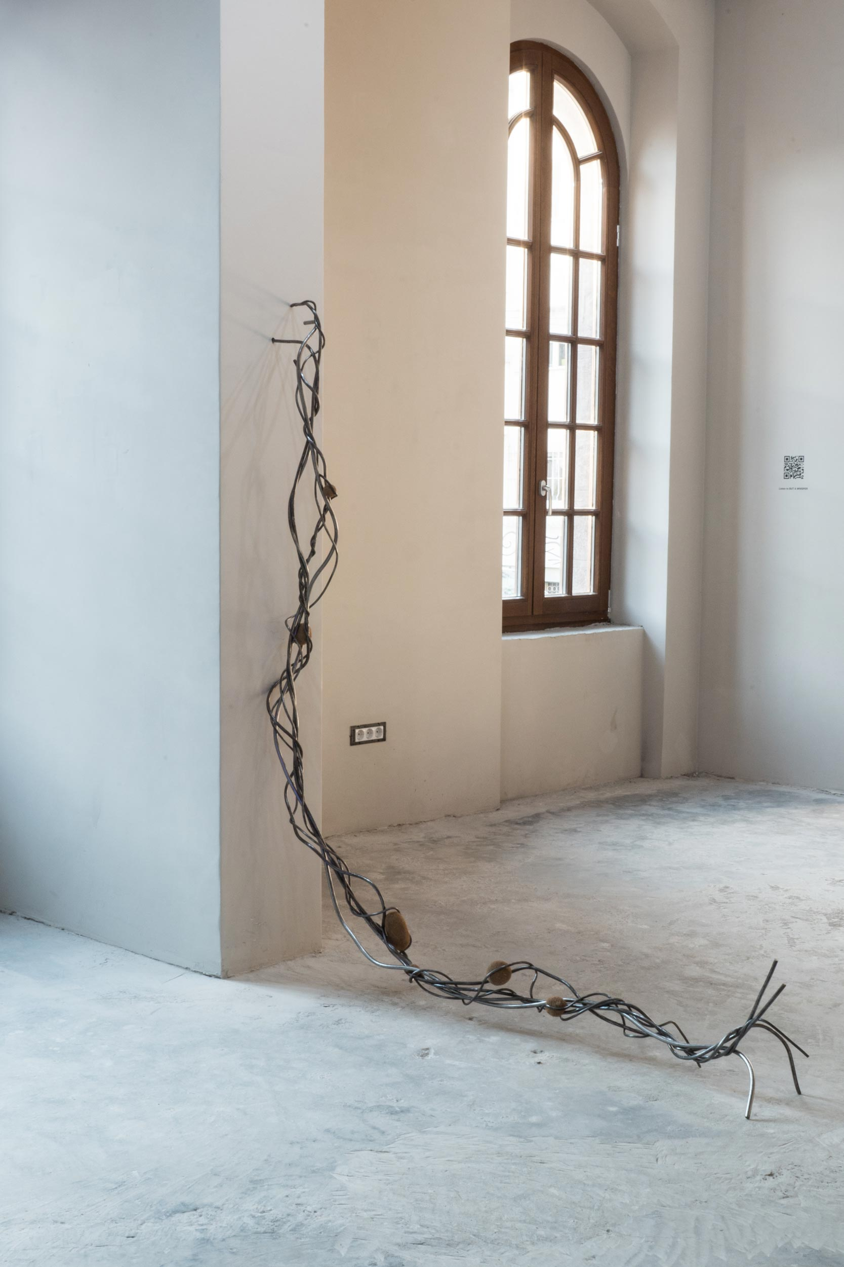 Nona Inescu, 'Intertangle II,' 2021, steel, various vegetal insertions, dimensions variable,