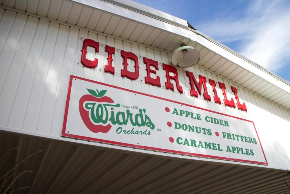 Wiar's CIder Mill sign.