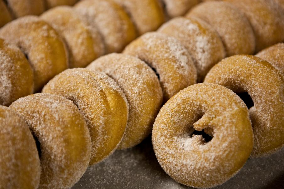 Close-up of Wiard's donuts.