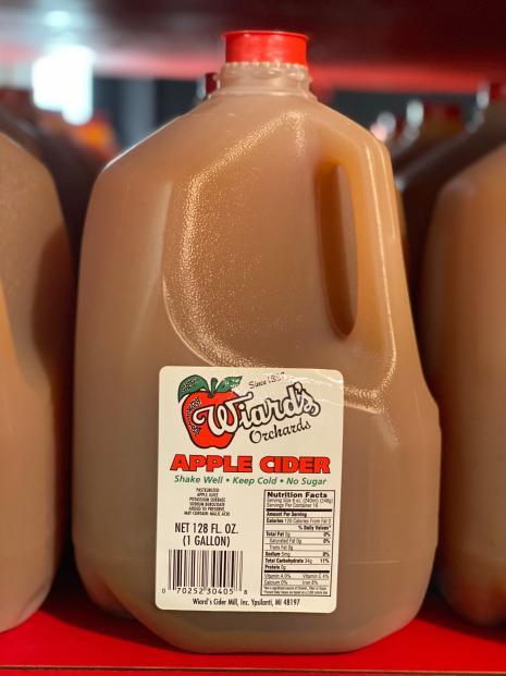 Gallon of Wiard's apple cider.