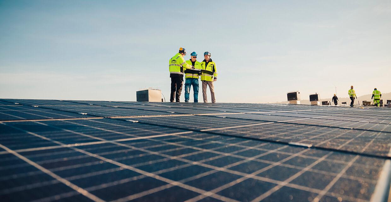 En av Sveriges största solcellsanläggning