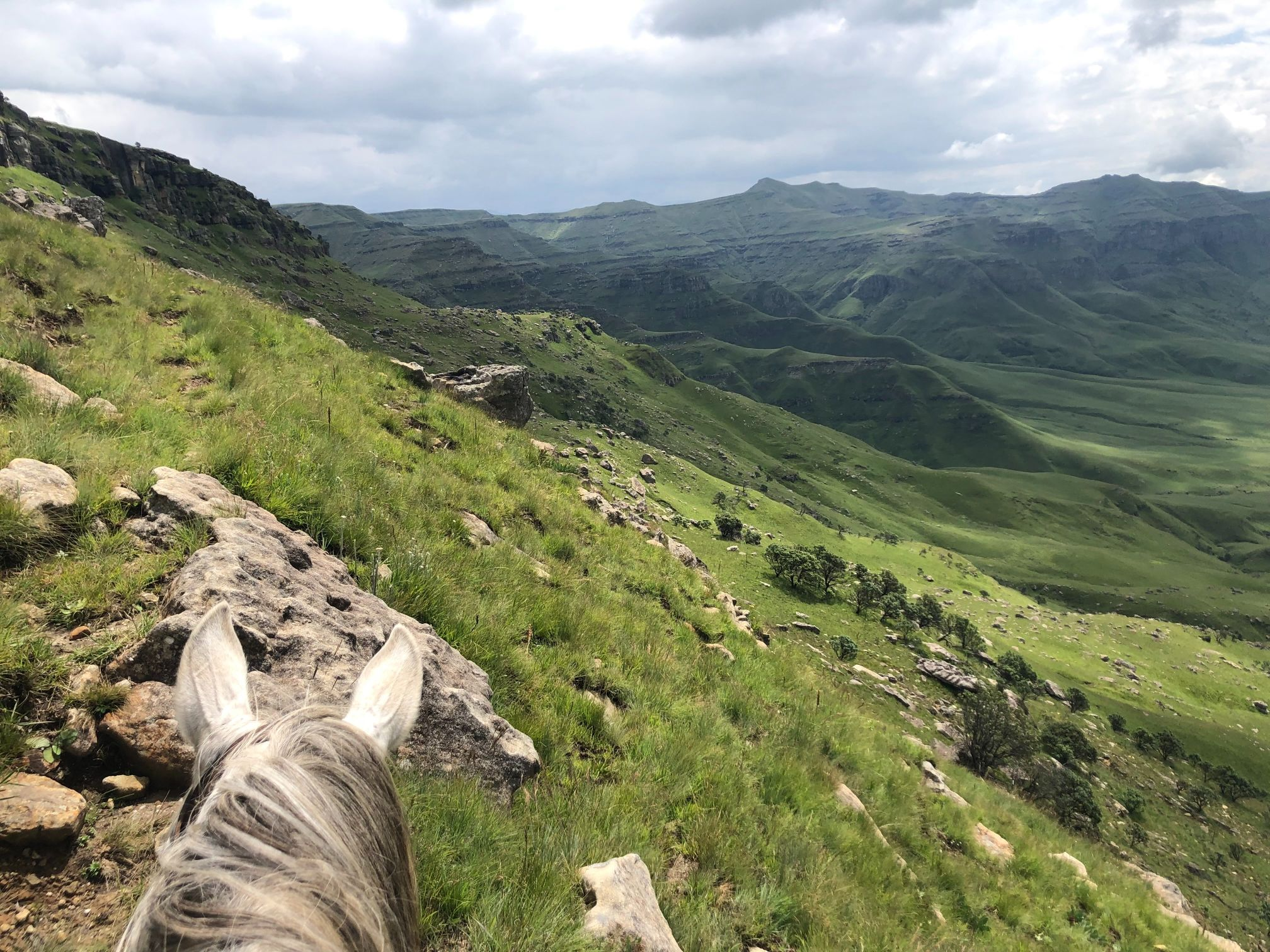 Horse riding in the Drakensberg South Africa