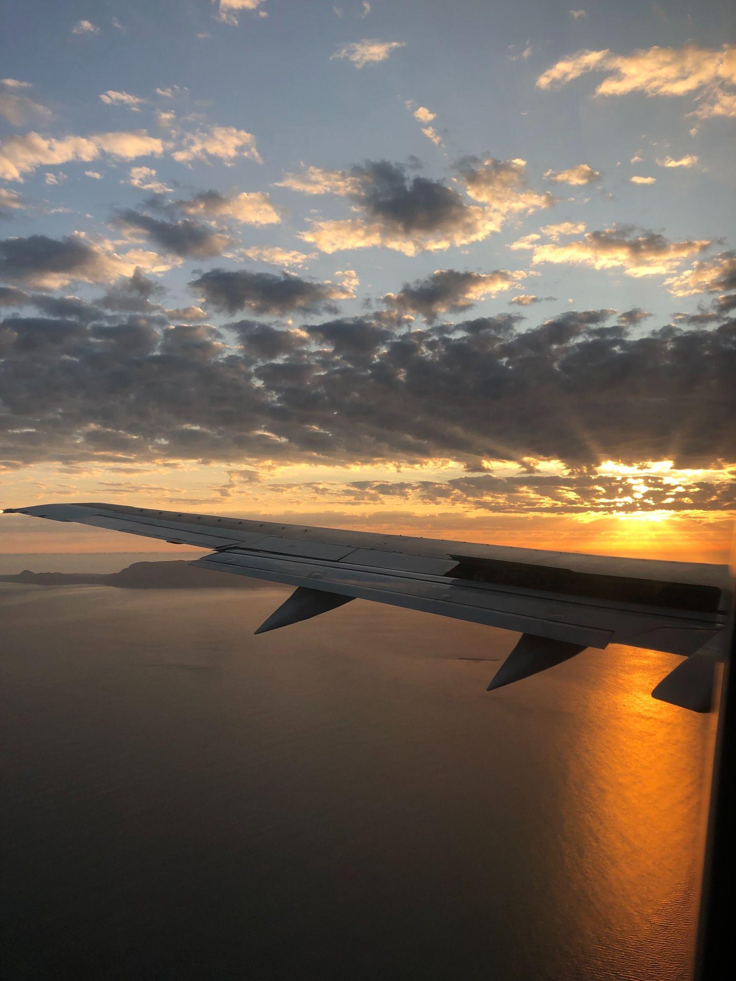 Flight from King Shaka airport Durban