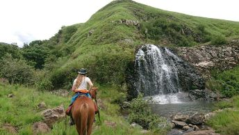 Waterfall in the Drakensberg South Africa at Khotso lodge and horse trails