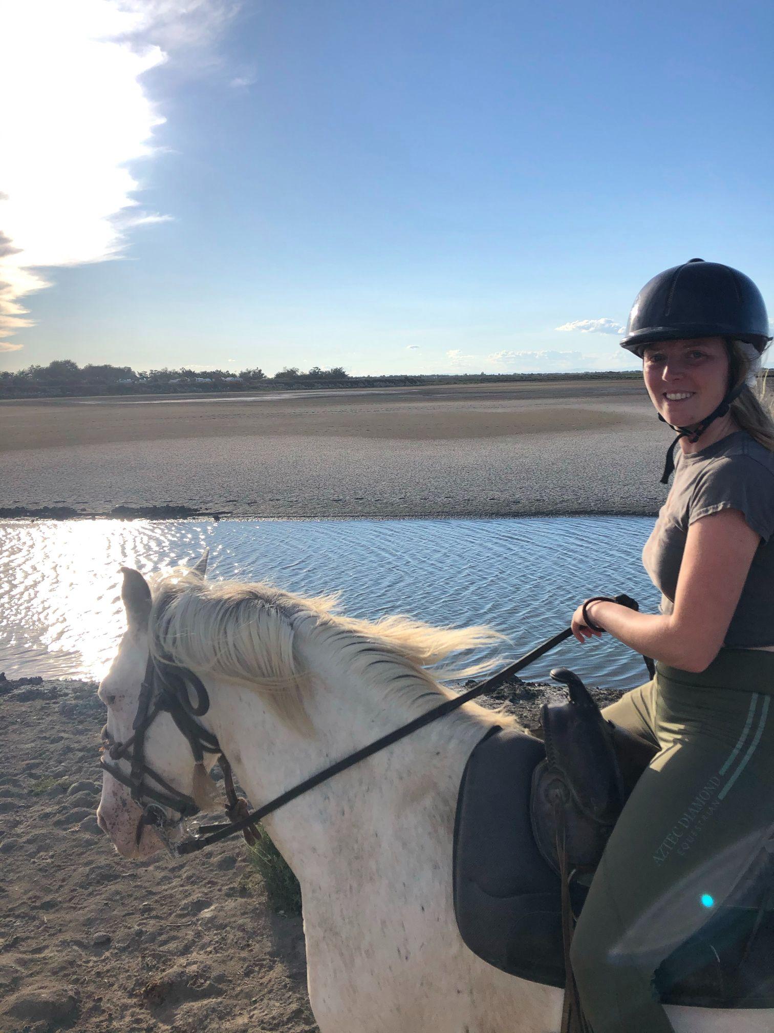 horse riding on the beach camargue france