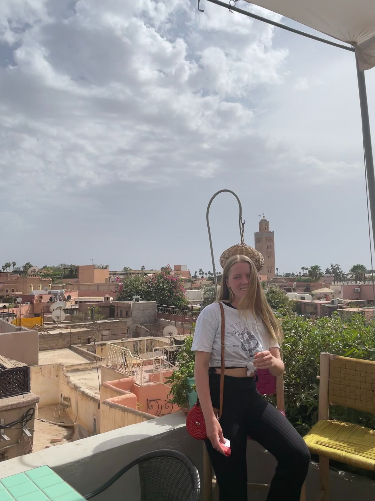 photoshoot on rooftop in marrakech morocco