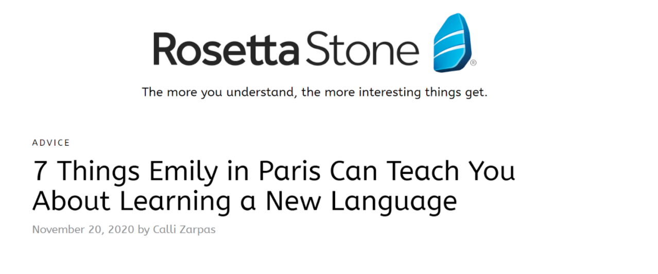 Rosetta Stone headline