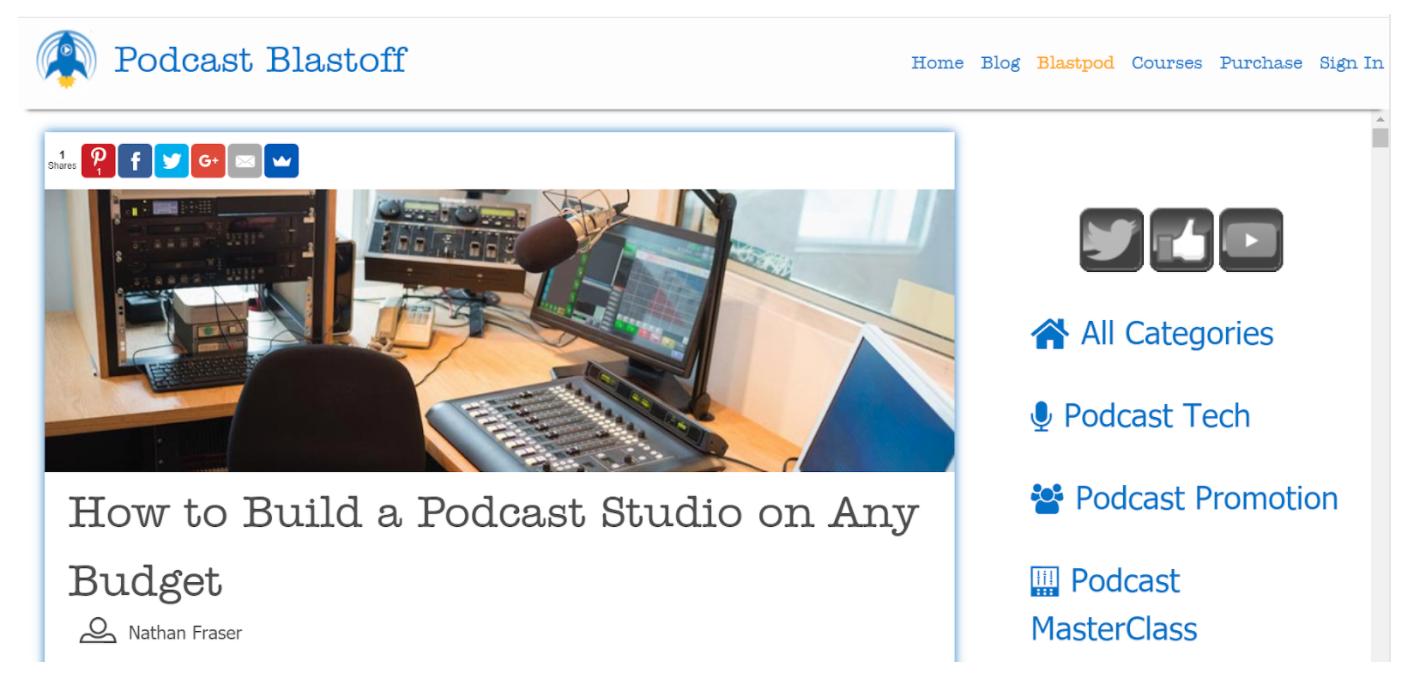 Podcast Blastoff headline