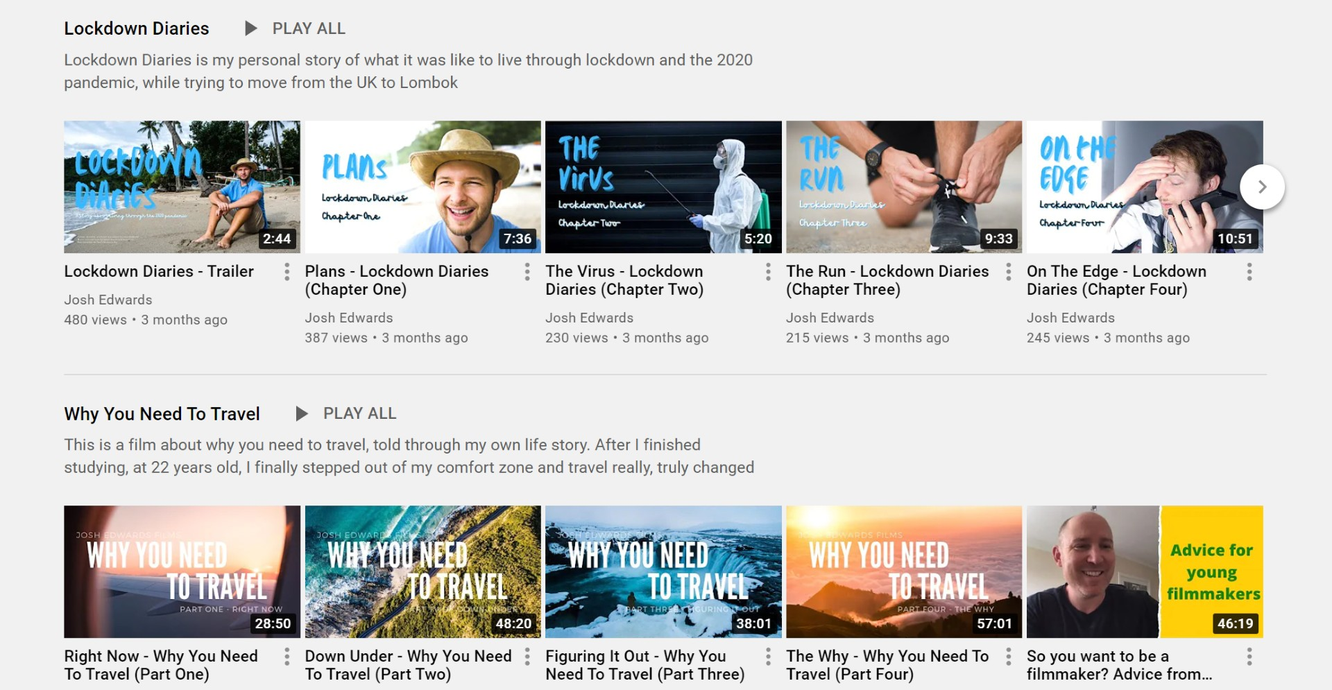 Consistent YouTube thumbnails help boost rankings
