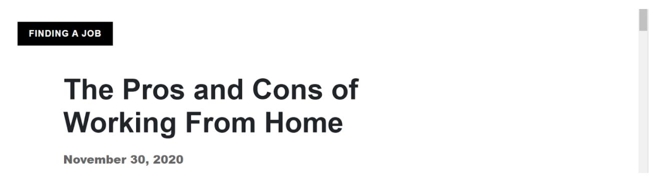 Indeed.com headline