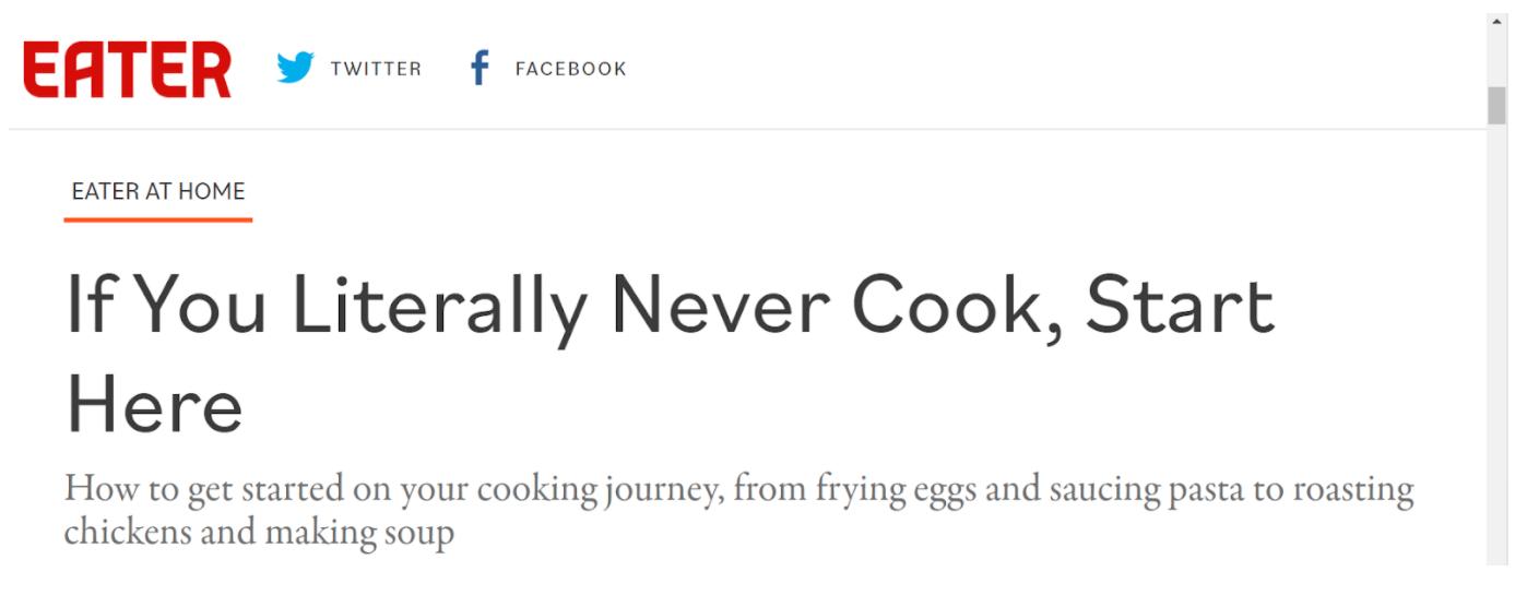 Eater headline