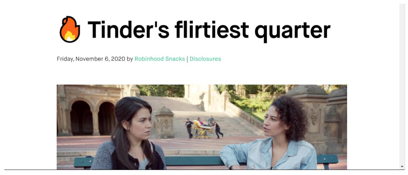 Tinder headline
