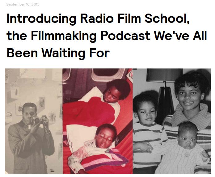 NoFilmSchool article about Radio Film School