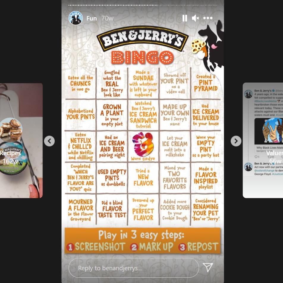 Ben & Jerry Bingo